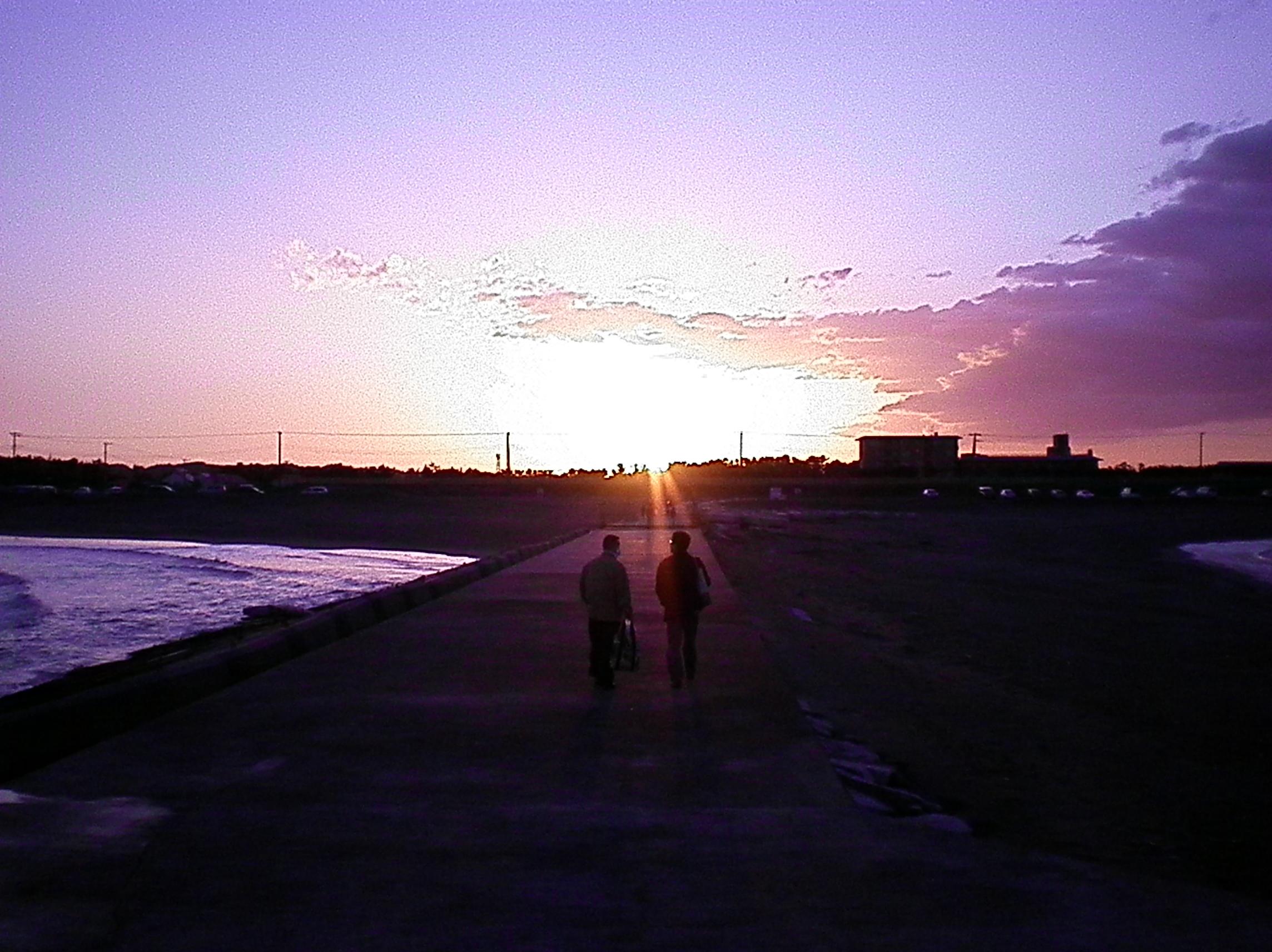 太平洋の夕空